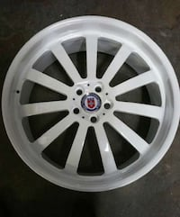 white automotive rims Toronto, M3C 1Y6
