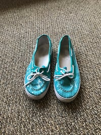 pair of blue-and-white boat shoes Ames, 50010