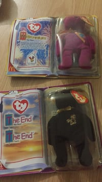 New McDonald's ty beanie bears The End and Millenium bears.