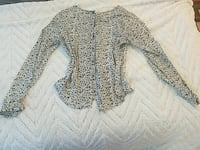 women's grey and white long sleeve top Las Vegas, 89183