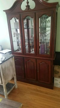 brown wooden framed glass display cabinet Alexandria, 22311