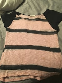 Black and pink stripe scoop-neck shirt Omaha, 68135