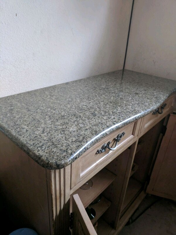 Granite Top Wine Cabinet
