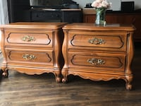 Delivery- pair of antique French country Nightstands Toronto, M9B 3C4