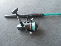 Telescopic fishingrod reel, ideal for travel MONTREAL