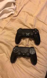 Two ps4 controllers