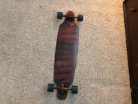 black and brown wheel cut-out longboard OKLAHOMACITY