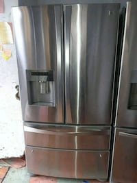 stainless steel french door refrigerator Carson