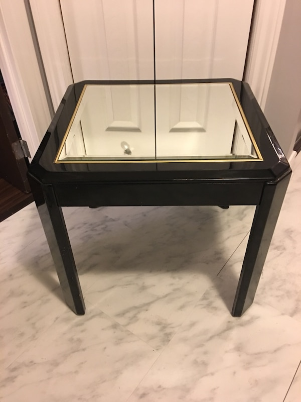 Black Mirrored End Tables