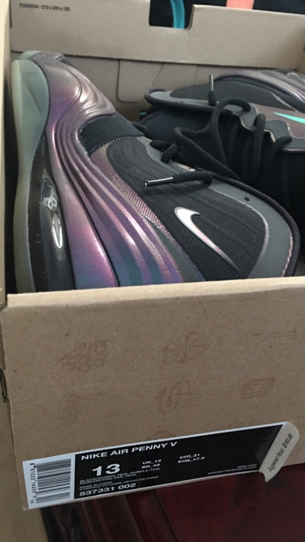 huge selection of 614b7 9005f nike air penny 5 invisibility cloak size 13