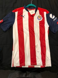 Red and white adidas jersey shirt District Heights, 20747