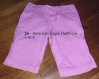 American Eagle Outfitters size 6 pink shorts Martinsburg, WV, USA