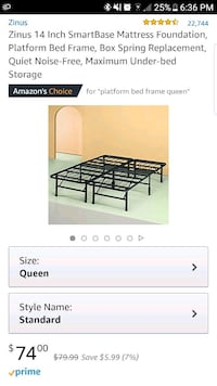 Platform bed frame - Queen Reston, 20190