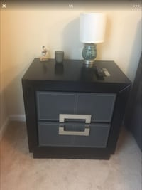 Black and gray bedside table stand (part of a set) Spring Lake, 28390