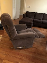 Brown fabric reclining chair Brentwood, 63144