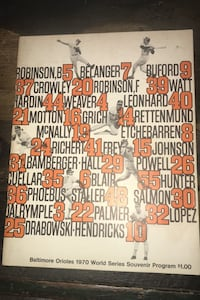 Orioles 1970 World Series Program  Martinsburg, 25403