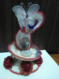 white blue red floral clam shell butterfly ornament Bridgeport, 06604