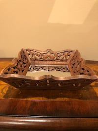 Decorative small tray with mirror