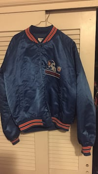 blue and red letterman jacket Wheat Ridge, 80033
