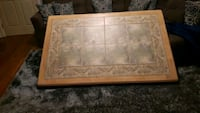 Tiled kitchen table and 6 chairs