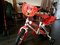toddler's red and white bicycle Kempston, MK42 8NB