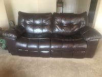 Electric recliner leather couch  Hanford, 93230