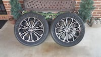 Two black and gray 7-spoke car wheels Conway, 72034