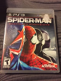 Spiderman Shattered Dimensions for PS3  Ajax, L1T 1T8