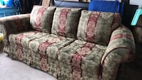 white and red floral fabric 3-seat sofa Burnaby, V3N 1L6