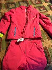 Snow jacket and pants. pink.   spider