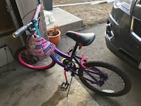 """Monster high girl bike 18"""" for $65 with helmet. Perfect for age 10-12 .It's a great condition, only used a couple of times. If you are interested please contact at ( [PHONE NUMBER HIDDEN]   Mississauga, L5N 2S7"""