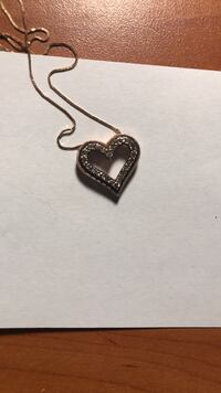 Rose Gold Heart Necklace Silver Spring, 20902
