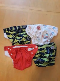 4 Sunbaby Cloth Diapers