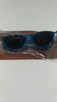 black wayfarer sunglasses with blue frame Milton, L9T 6X5