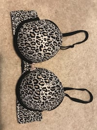 Victoria's Secret PERFECT SHAPE bra, 34C, Leopard/Cheetah Print Clinton, 49236