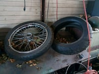 two black bicycle wheels with tires Abilene, 79602