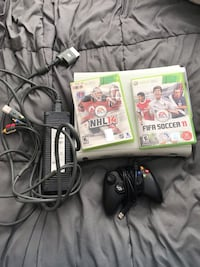 Xbox 360 with one controller 2 games