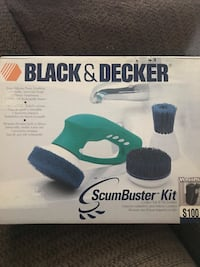 Black and decker scum buster kit for scrubbing tile    Cordless.  Brand new in sealed box ! Surrey