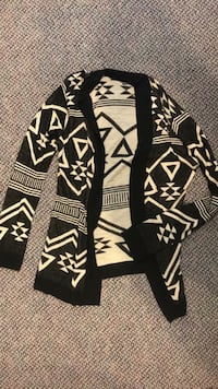 black and white tribal print cardigan Hampton, 37658