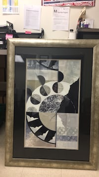 white and black abstract painting Harrisburg, 17110
