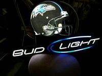 black and blue Bud Light neon light signage Baltimore, 21230