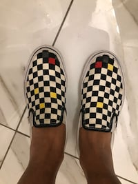 Vans Checkered Slip Ons. Boston, 02132