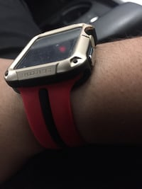apple watch with red sports band Vaughan, L4K 4V8