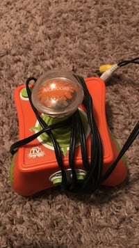 orange and green Nicktoons TV device