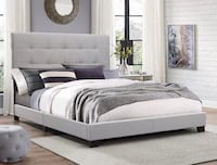 Florence Gray Queen Bed | 5270 Houston, 77036
