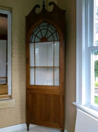 Glass Front Corner Hutch Downers Grove