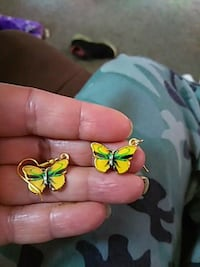 Yellow Butterfly Earrings Burlington, 52601