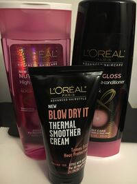 three L'Oreal products