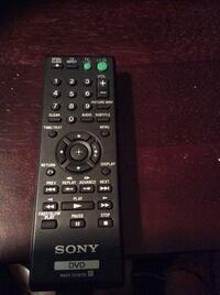 Sony DVD player and remote control.   Hardly used.  Excellent Condition Georgetown, L7G 1X6