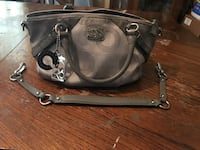Authentic silver/gray Coach purse Rogers, 72758